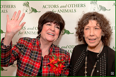 AOA President JoAnne Worley and Board Member Lily Tomlin